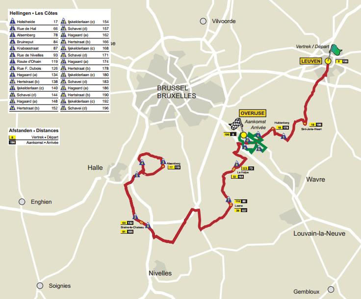 WVcycling.com - Brabantse Pijl 2012 - Parcours
